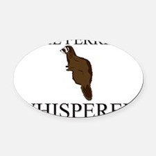 FERRET43280 Oval Car Magnet