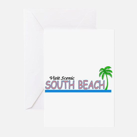 Visit Scenic South Beach, Flo Greeting Cards (Pack