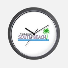 Visit Scenic South Beach, Flo Wall Clock