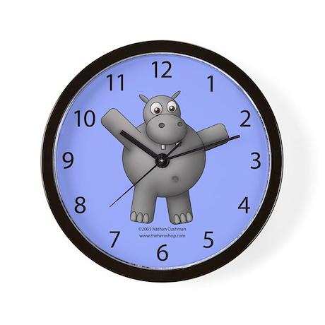 Classic Huggable Hippo Clock