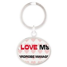 WARDROBE-MANAGER65 Oval Keychain