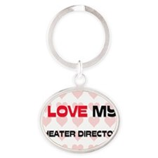 THEATER-DIRECTOR113 Oval Keychain