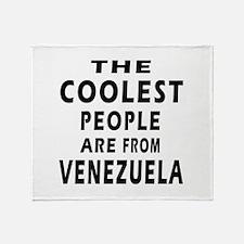 The Coolest Venezuela Design Throw Blanket