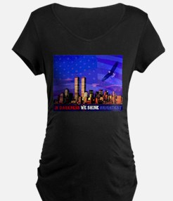 9 11 Memorial Never Forget Maternity T-Shirt