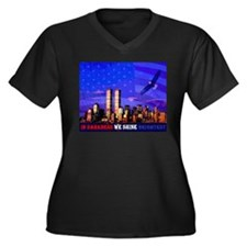 9 11 Memorial Never Forget Plus Size T-Shirt
