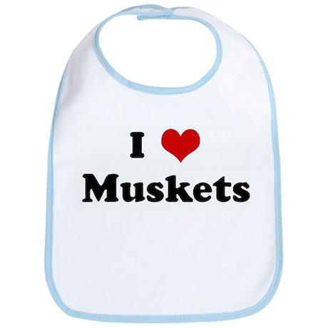 I Love Muskets Bib