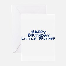 Happy Birthday Little Brother Greeting Cards (Pack