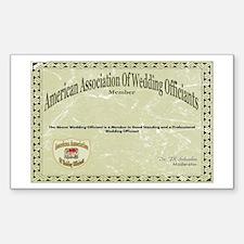 American Assn Wedding Officiants Sticker (Rectangu
