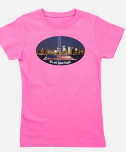 9-11 We Will Never Forget Girl's Tee