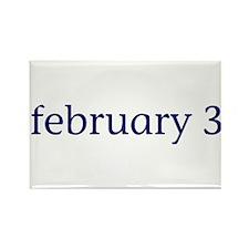 February 3 Rectangle Magnet
