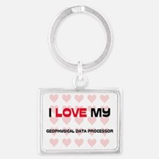 GEOPHYSICAL-DATA-PRO54 Landscape Keychain