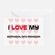 GEOPHYSICAL-DATA-PRO54 Greeting Card