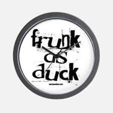 Frunk As Duck! Wall Clock