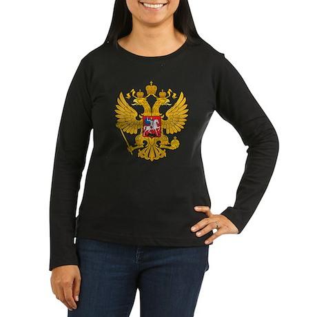 Russia Coat of Arms Women's Long Sleeve Dark T-Shi