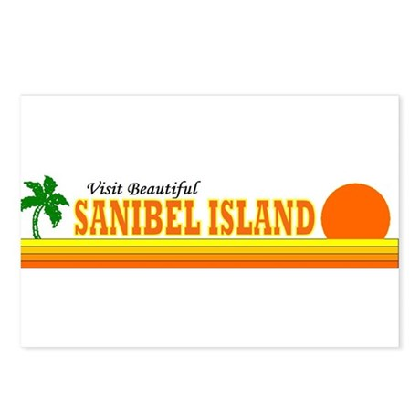 Visit Beautiful Sanibel Islan Postcards (Package o