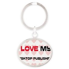 DESKTOP-PUBLISHER119 Oval Keychain