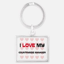 COUNTRYSIDE-MANAGER100 Landscape Keychain