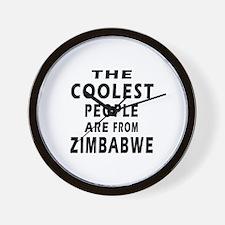 The Coolest Zimbabwe Design Wall Clock