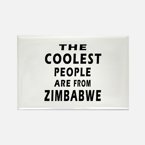 The Coolest Zimbabwe Design Rectangle Magnet