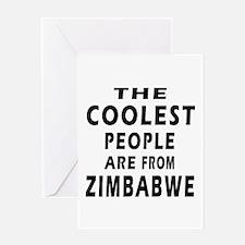 The Coolest Zimbabwe Design Greeting Card