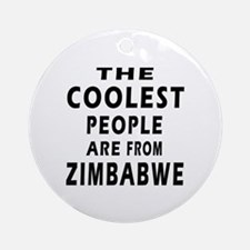 The Coolest Zimbabwe Design Ornament (Round)