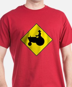 Tractor Crossing Red T-Shirt