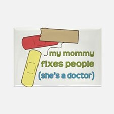Mommy's a Doctor Rectangle Magnet