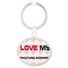 AGRICULTURAL-ECONOMI48 Oval Keychain