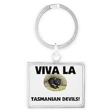 TASMANIAN-DEVILS2540 Landscape Keychain