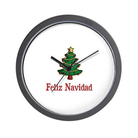 Feliz Navidad Wall Clock