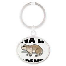 RODENTS2391 Oval Keychain