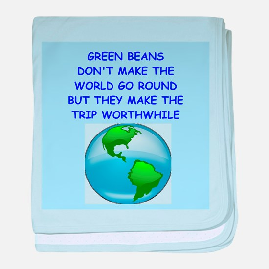 green beans baby blanket
