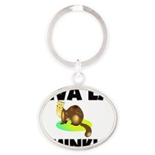 MINK126177 Oval Keychain