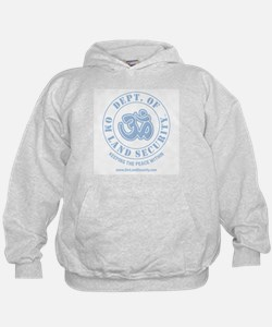 Om Land Security Hoodie (Lt Blue logo)