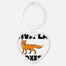 FOXES125270 Heart Keychain