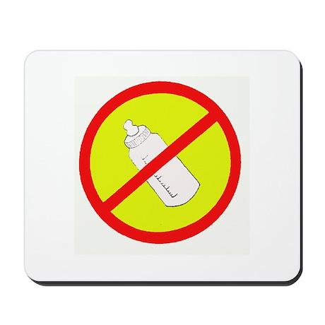 not bottle fed circle slash Mousepad