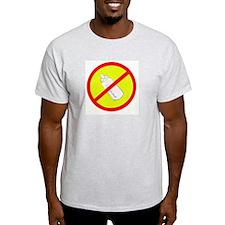 not bottle fed circle slash Ash Grey T-Shirt