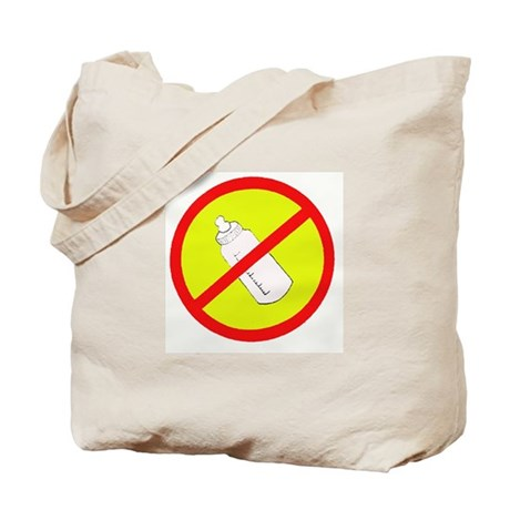 not bottle fed circle slash Tote Bag