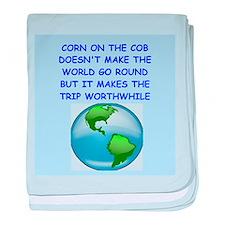 corn on the cob baby blanket