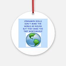Cinnamon Rolls (round) Round Ornament