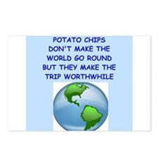 potato chip Postcards (Package of 8)