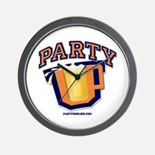 Party U - Drinking Logo Wall Clock
