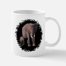 MOTHER AND BABY ELEPHANTS Mug