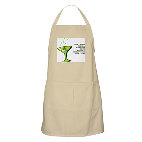 NEW YEAR RESOLUTIONS BBQ Apron