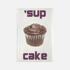 'sup cake rectangular magnet