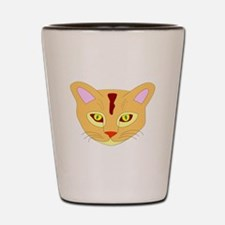 Orange Cat Face Shot Glass