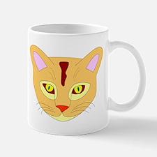Orange Cat Face Small Mug