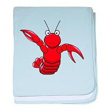Cartoon Lobster baby blanket