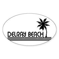 Delray Beach, Florida Oval Decal