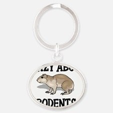RODENTS7592 Oval Keychain